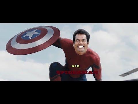SALIM KUMAR IN & AS SPIDERMAN |ULTIMATE FIGHT | Troll malayalam