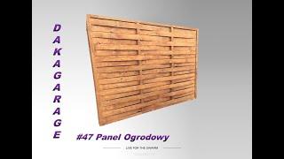 Panel ogrodowy, Garden panel