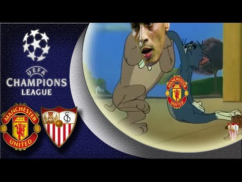 Man United VS Sevilla : 1-2 😋Ben Yedder is in , Mourinho is out 😮Champions League 13/03/218 HD