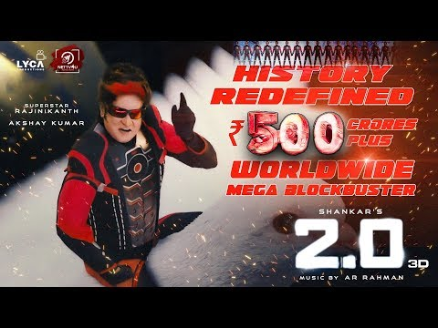 Mega Blockbuster: 2.0 Collects 500cr Worldwide! Rajinikanth | Akshay Kumar