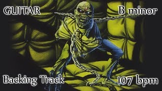 IRON MAIDEN style Classic Heavy Metal Backing Track in B minor