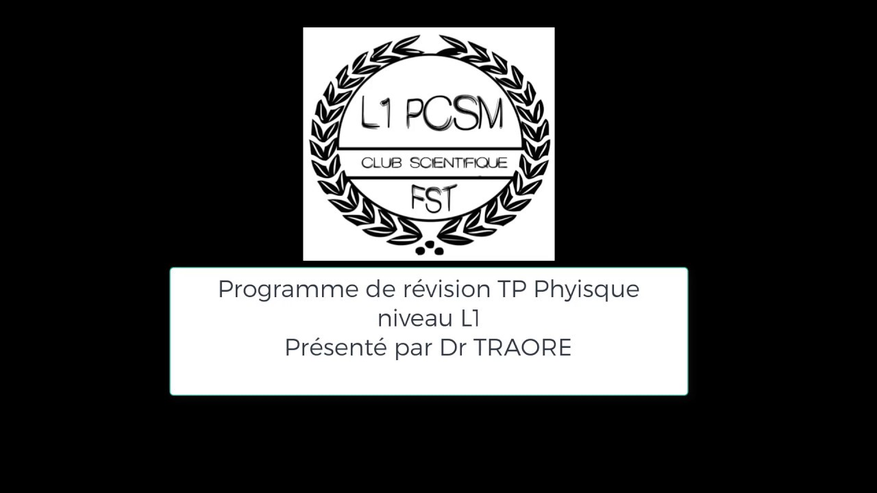 Correction exercices TP PHYSIQUE L1PC - YouTube
