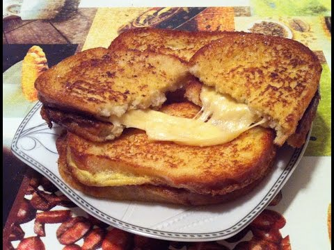 Жареные двойные гренки с тягучим сыром(Welsh rarebit,Toast)/Простой Рецепт