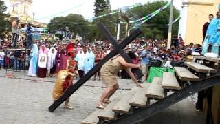 Dramatización del vía crucis y crucifixión de Jesucristo en Chiantla Huehuetenango
