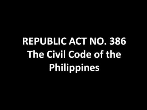 THE CIVIL CODE OF THE PHILIPPINES: Article 1-100