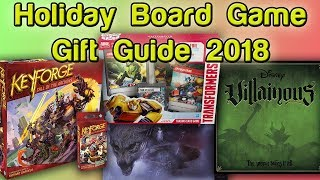 Holiday Board Game Gift Guide 2018 | Roll For Crit