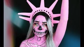 Halloween Makeup - Estatua de la Libertad Pop Art