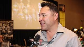 OSCAR DE LA HOYA SAYS JACOBS DELUSIONAL ON WEIGHT REHYDRATION CLAIMS; SAYS CANELO WILL BE BIGGER