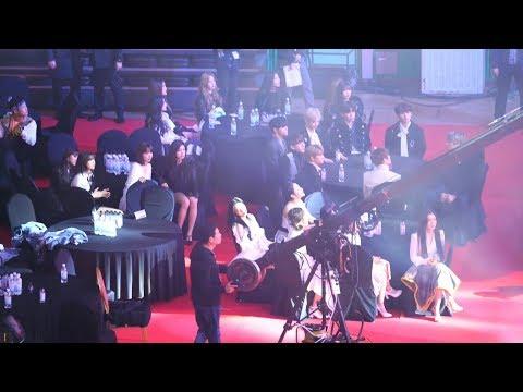 [블랙핑크(BLACKPINK) Full Ver.] 레드벨벳(Red Velvet),아이즈원(IZONE),여자아이들 Reaction@190123 가온차트 [ 4k Fancam/직캠