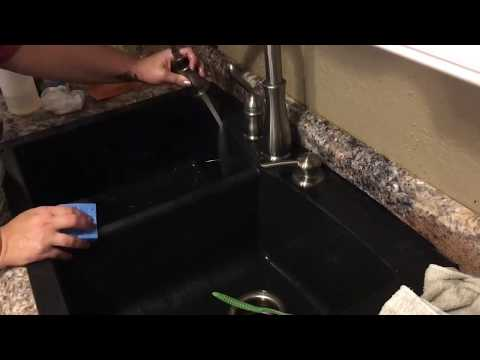 Cleaning, and Maintaining, a granite composite sink.
