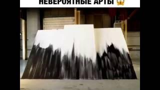 Картины из песка и клея  Тима Бенгеля