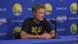 Kerr refuses to give starting lineup, talks about 'The Crown' instead