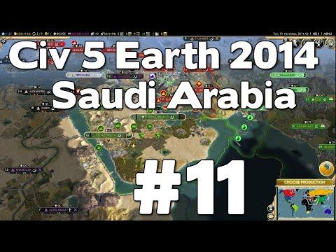 Let's Play Civ 5 Saudi Arabia Earth 2014 #11