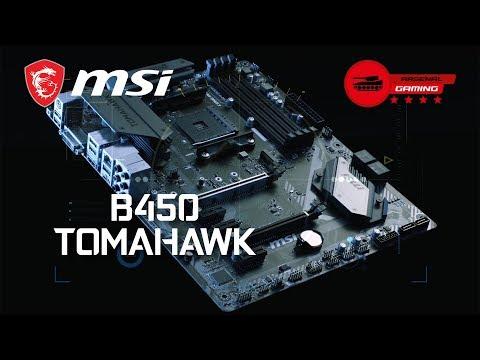 MSI AMD Ryzen B450 TOMAHAWK AM4 ATX Motherboard LN91341 | SCAN UK