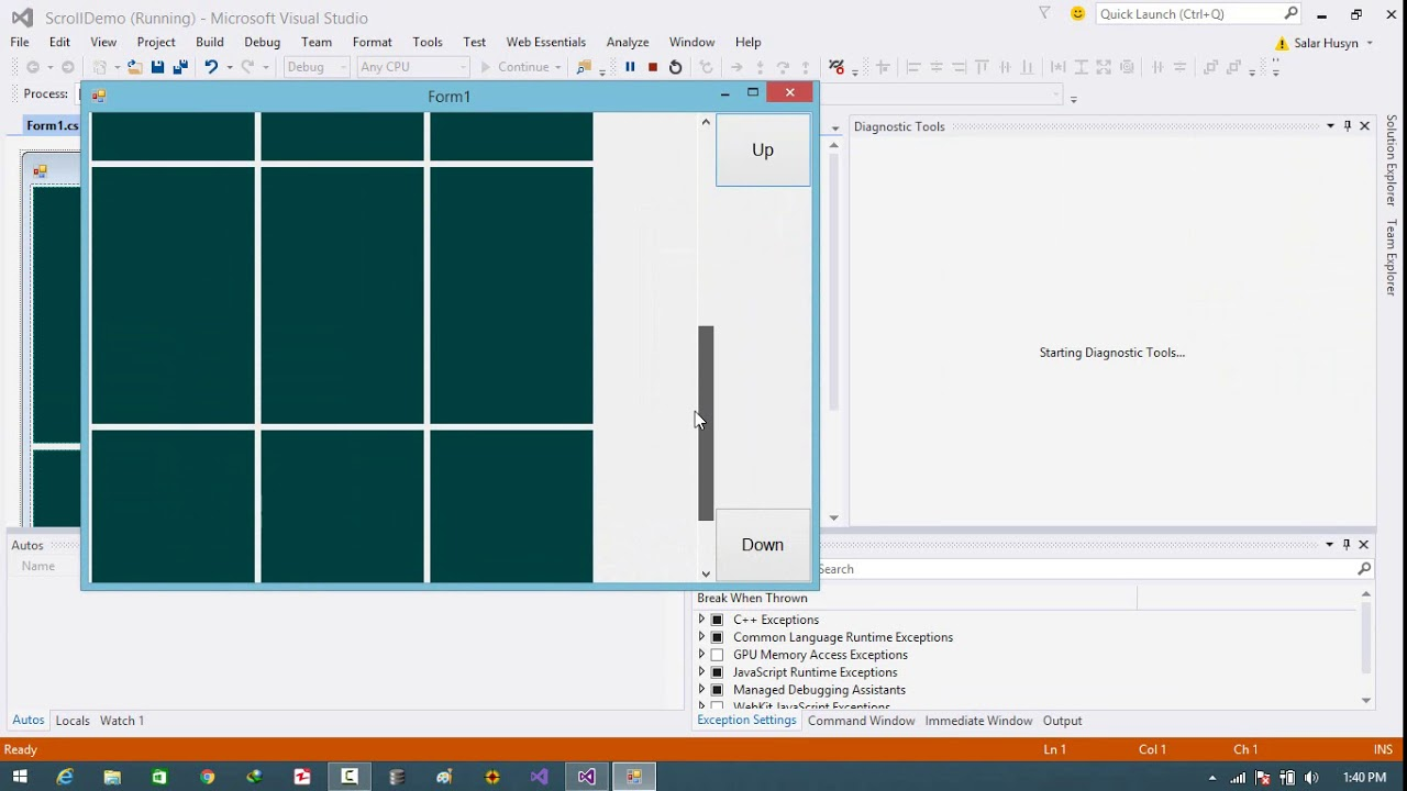C# - Scrolling a Flow layout Panel using Buttons in WinForm App