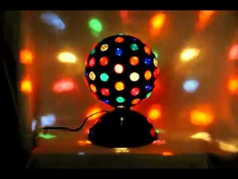 8 Rotating Disco Party Lamp Light