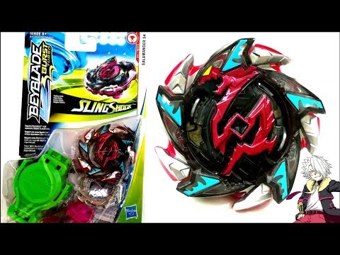 Hasbro HEAT SALAMANDER H4 Review Beyblade Burst Turbo Slingshock