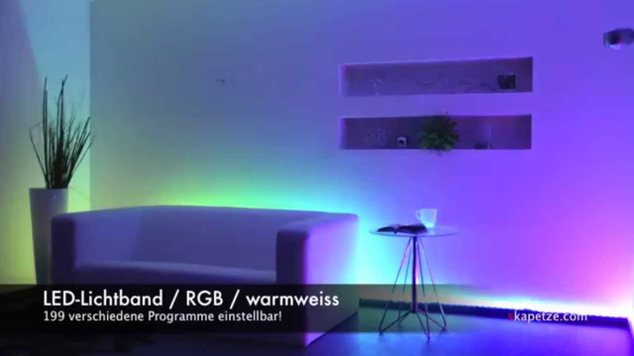 Led Licht Strip : S`luce digitaler led strip mit lauflicht programme youtube