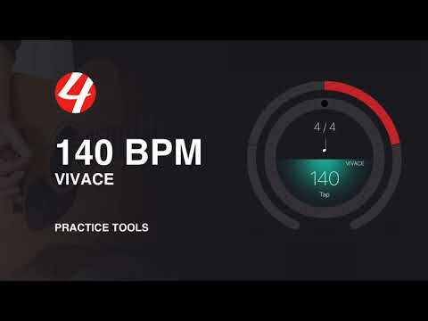 140 BPM (Beats Per Minute) 4/4 Metronome Click Practice Track | Music Lessons