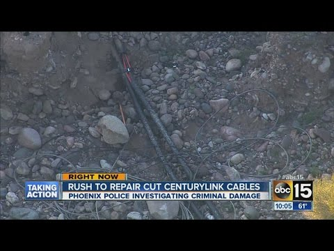 Rush on to repair cut CenturyLink cables