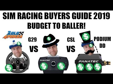 Get the most for your money!  Sim Racing buyers guide 2019