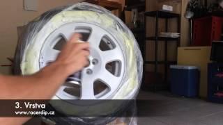 Škola Dipu - stříkání kola RACER DIP ® Alpine bílá  ™