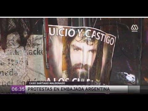 Caso Santiago Maldonado: Protestas en embajada de Argentina-Ahora Noticias Matinal / 24 de octubre