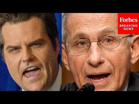 """I'm So Sick Of Him"": Matt Gaetz Slams Dr. Fauci At ""America First"" Rally"