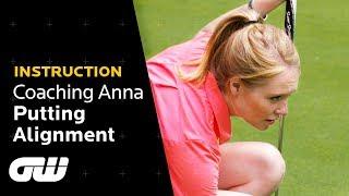 """A HUGE Improvement!"" | Putting Alignment Tips | Coaching Anna | Golfing World"