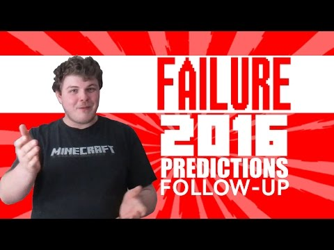 Let's Watch Me Fail at Making Predictions...