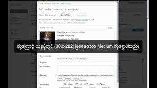 How to post with Wordpress by Myanmar Mp3 Album