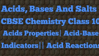 Acids,Bases and Salts|| Acids Introduction||Different Reactions with Acid