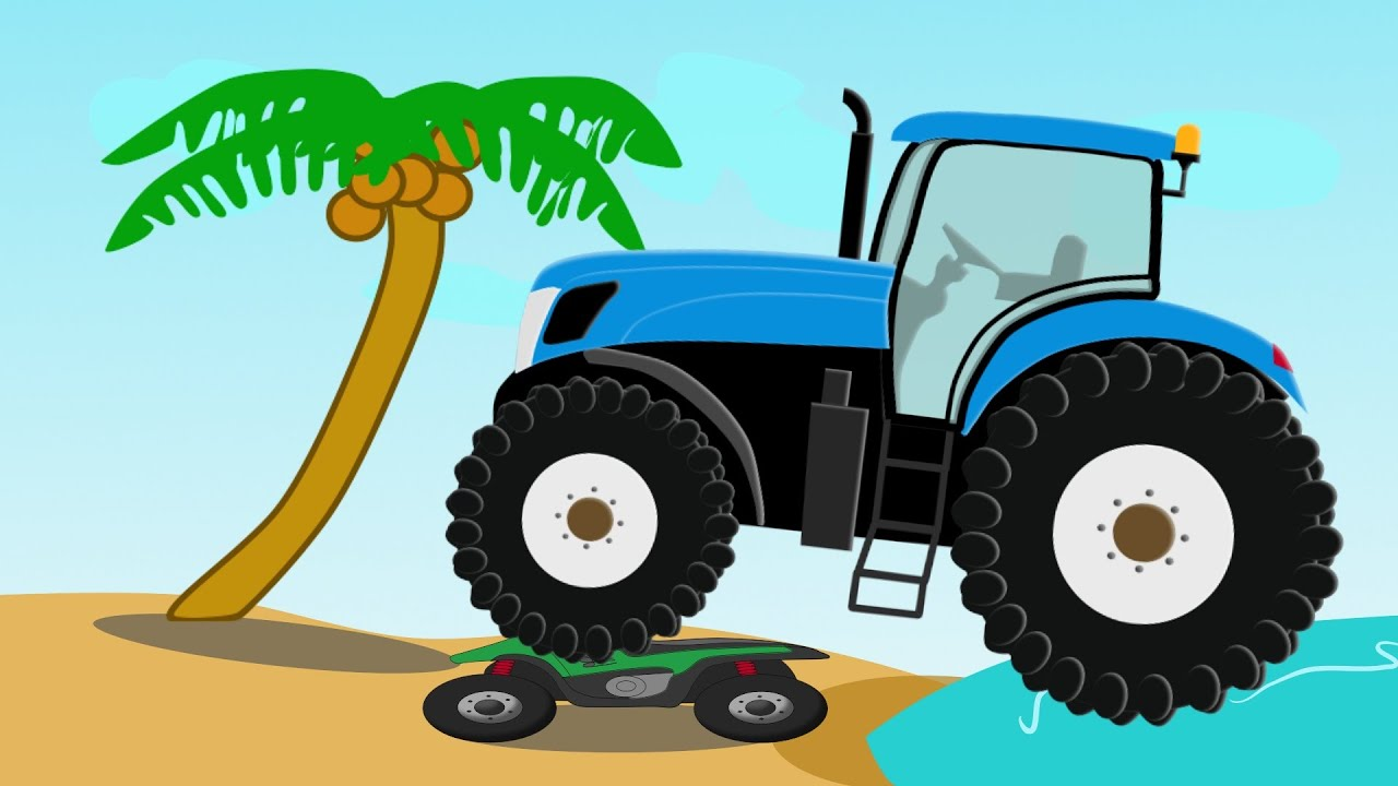 Monster Tractor Traktor Stunt Fairy Tales For Kids Bajka I