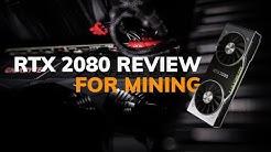 NVIDIA GeForce RTX 2080 Mining Hashrate Benchmarks for Cryptocurrency (vs. GTX 1080 - Multi Algos)