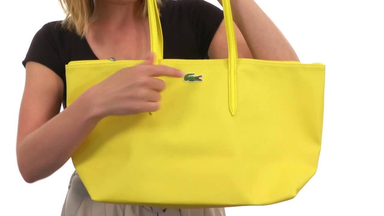 Lacoste - L.12.12 Concept L1 Large Shopping BagSKU   8345318 - YouTube 87ac13d9d81