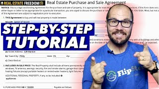 How To Fill Out A Real Estate Purchase And Sale Agreement
