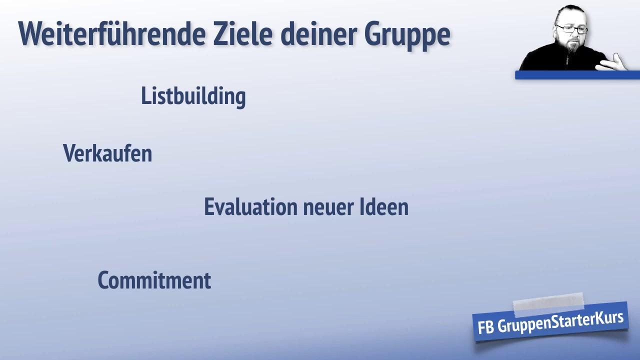 Facebook Gruppe erstellen? Überlegungen zu deinen Zielen! - YouTube