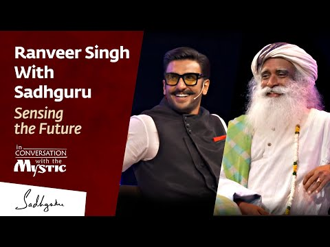 Ranveer Singh With Sadhguru  In Conversation with The Mystic @IIMBue 2018