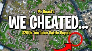 WE CHEATED in Mr Beast $200,000 YouTuber Battle Royale...