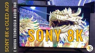 SONY 8K nuovo OLED 4K HDR AG9 e SUONO a 360°. Le novità CES 2019