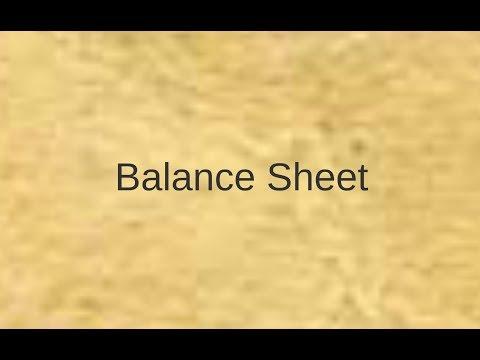 1/4 Balance Sheet الميزانيه العموميه