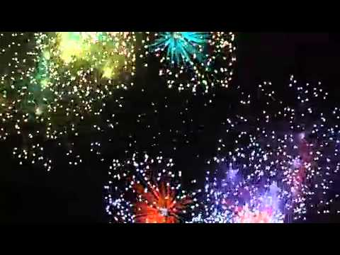 Colorful Firework Display Motion Background