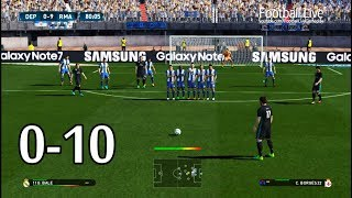 Pes 2017 | deportivo vs real madrid (0-10) | free kick goal & full match | gameplay pc
