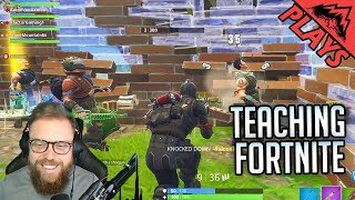 Teaching Fortnite - Fortnite Gameplay #19 (Fortnite Battle Royale PC Squad Gameplay)