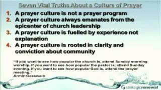 7 Vital Ingredients to a Prayer Culture
