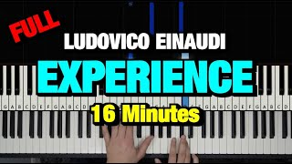 HOW TO PLAY - LUDOVICO EINAUDI - EXPERIENCE (PIANO TUTORIAL LESSON)