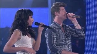 Robin Thicke & Olivia Chisholm: Where Is The Love? (Coaching + Performance) 5 31 2012