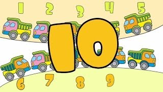 Kids Play & Learn Puzzles Games 3: Big Trucks Learn To Count English Numbers