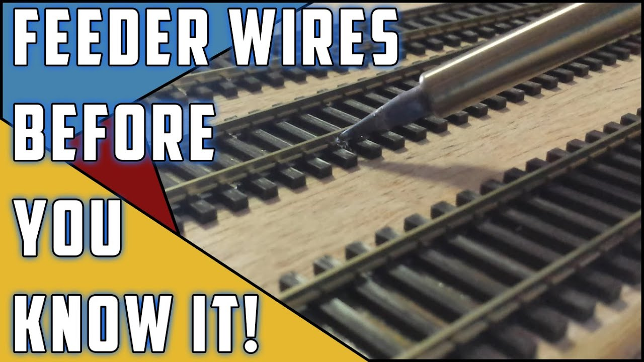 model railroad how to installing feeder wires [ 1280 x 720 Pixel ]