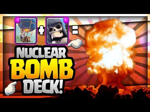 INSANE NUCLEAR BOMB DECK!! Giant Skeleton + Balloon = SO MUCH FUN!! Clash Royale Strategy